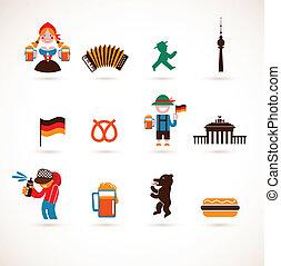 Colección de iconos alemanes