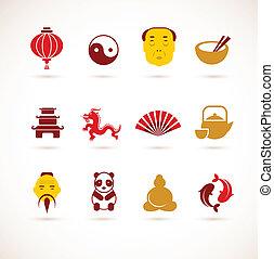Colección de iconos chinos