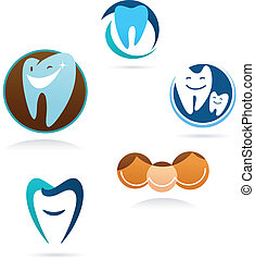 Colección de iconos de clínica dental