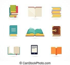 Colección de iconos de libros