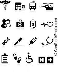 Colección de iconos del hospital médico