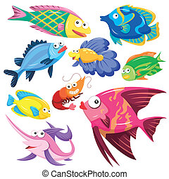 Colección de ilustraciones de animales de cartón