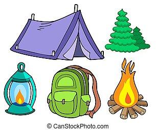 Colección de imágenes de campamento