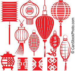 Colección de linternas chinas
