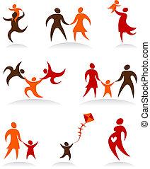 Colección de logos abstractos de la gente: 2