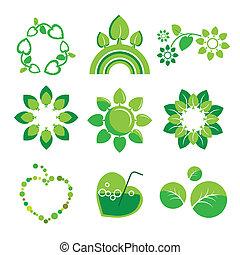 Colección de logos vectores salud y medio ambiente