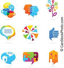 Colección de medios sociales y iconos de redes