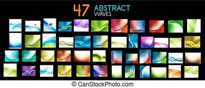 Colección de mega vectores de ondas abstractas