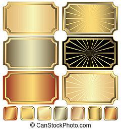 Colección de oro, plata y marco