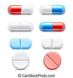 Colección de pastillas medicinales