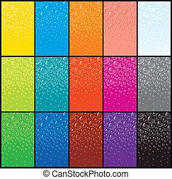 Colección de patrones de burbujas. Imágenes del vector