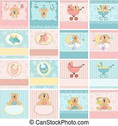 Colección de postales del bebé