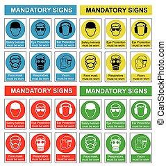 Colección de signos de salud y seguridad
