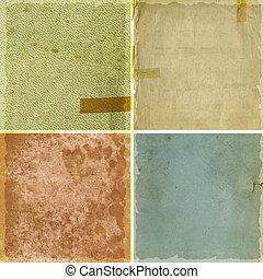 Colección de texturas de papel grunge