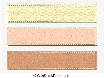 Colección de varios papeles de color, listo para su mensaje. Ilustración de vectores.