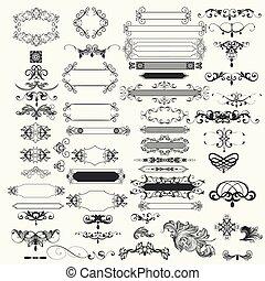 Colección de vectores elementos de diseño vintage.eps