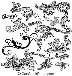 Colección de vectores elementos y adornos para el diseño.eps
