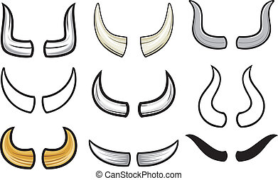 colección, set), (horn, cuernos