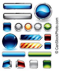 Coleccion de botones brillantes