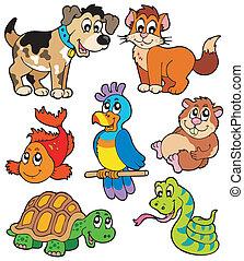 Coleccion de caricaturas de mascotas