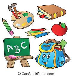 Coleccion de caricaturas escolares