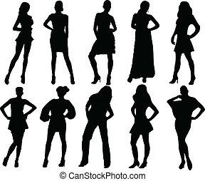 Coleccion de chicas - Vector