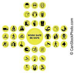 Coleccion de iconos de salud y seguridad