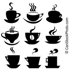 Coleccion de iconos de tazas de café