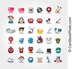 Coleccion de iconos médicos y hospitalarios
