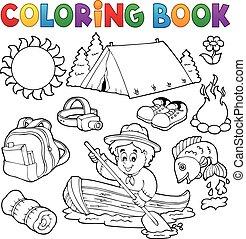 Coleccion de libros de color de verano al aire libre