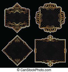 Coleccion de marcos de oro