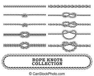 Coleccion de nudos de cuerda.