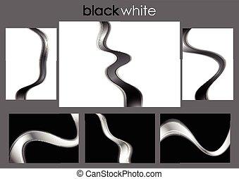 Coleccion de ondas abstractas y negras