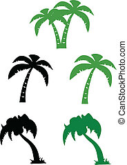 Coleccion de palmeras de Silhouette