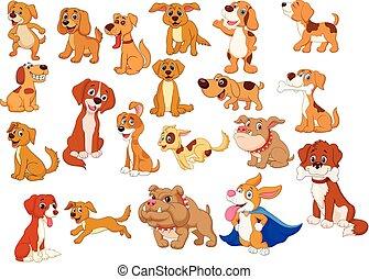 Coleccion de perros de dibujos animados