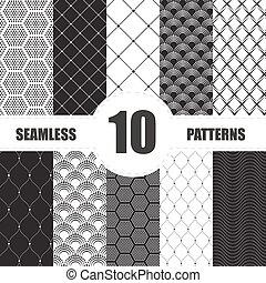 Coleccion de puntos de patrón. Geométrico