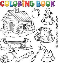 Colecciona objetos de color al aire libre