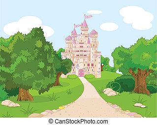colina, castillo