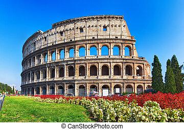 Coliseo antiguo en Roma, Italia