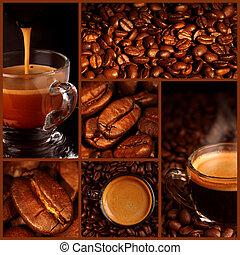 collage, café, espresso