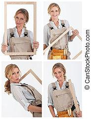 Collage de carpintero