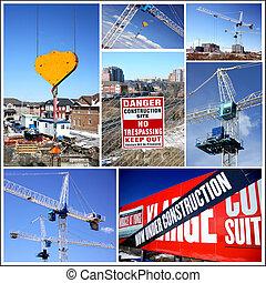 Collage de construcción