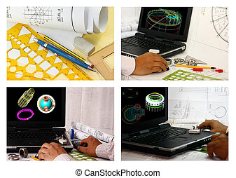 Collage de diseño de computadoras