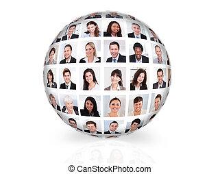 Collage de diversos empresarios