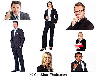 Collage de gente de negocios de moda