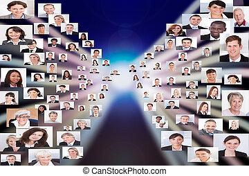 Collage de gente de negocios