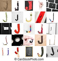 Collage de la letra J