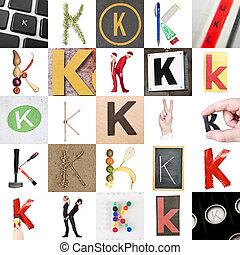 Collage de la letra K