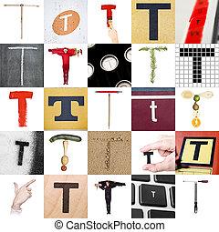 Collage de la letra T