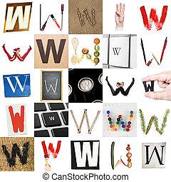 Collage de la letra W
